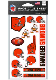 Cleveland Browns 4x7 Face Tattoo