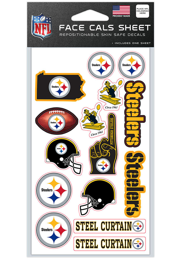 Pittsburgh Steelers 4x7 Face Tattoo