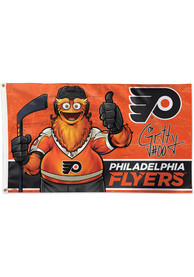 Philadelphia Flyers 3x5 Deluxe Orange Silk Screen Grommet Flag