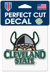 Cleveland State Vikings 4x4 Auto Decal - Green