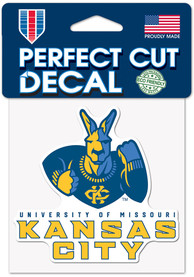 UMKC Roos 4x4 Auto Decal - Blue