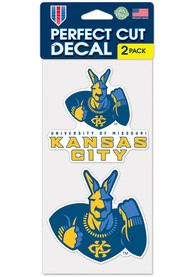 UMKC Roos 4x4 2 Pack Auto Decal - Blue