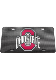 Ohio State Buckeyes Carbon Fiber Car Accessory License Plate