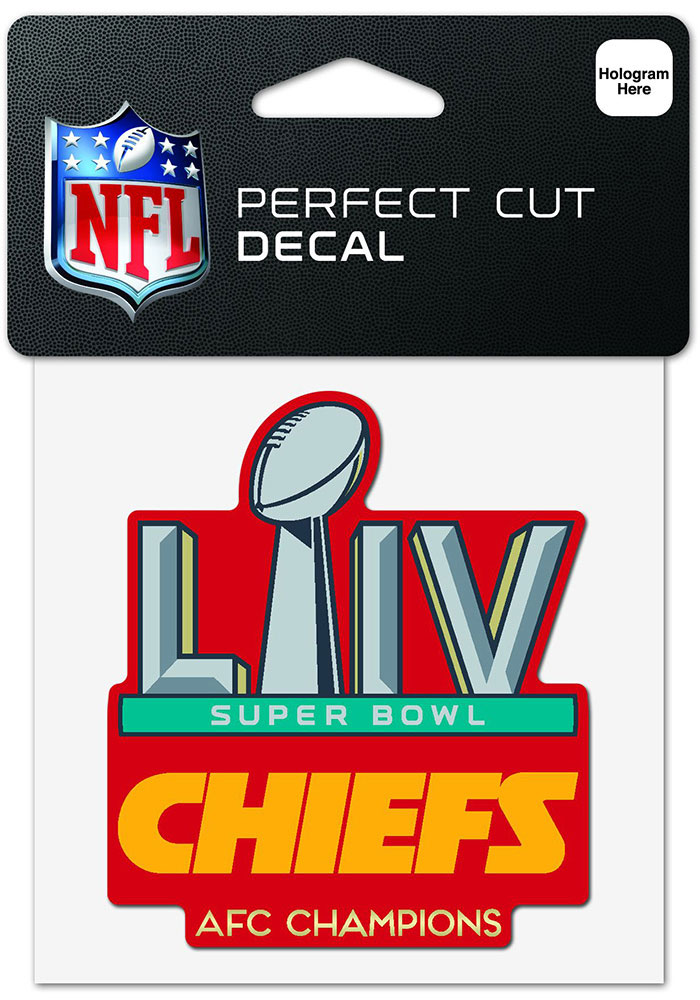 Kansas City Chiefs 2019 Super Bowl LIV Participant Auto Decal - Red - Image 1