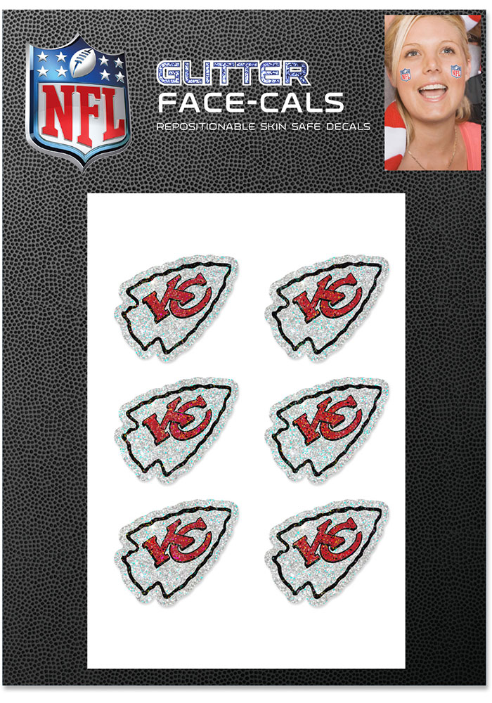 Kansas City Chiefs Glitter Tattoo - Image 1