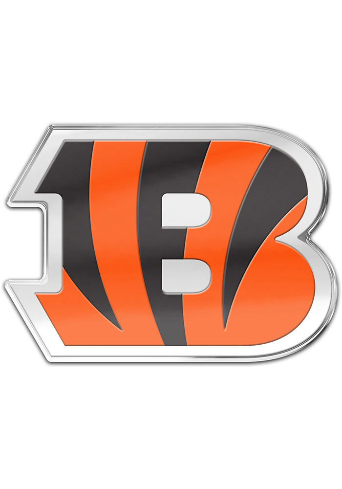 Cincinnati Bengals Auto Badge Car Emblem - Orange