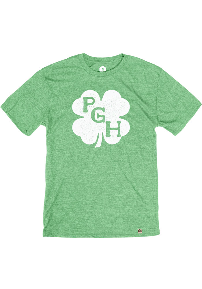 Pittsburgh Heather Green Shamrock Initials SS Tee - Image 1