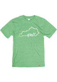 Kentucky Heather Green Yall State Shape Short Sleeve T Shirt