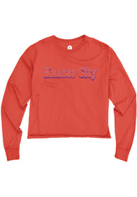 Kansas City W Red Cropped Long Sleeve T Shirt