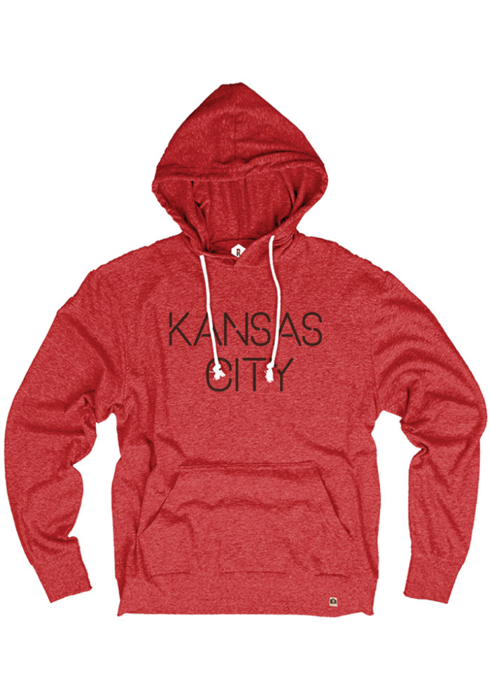 Kansas City Heather Red Disconnected Long Sleeve T-Shirt Hood - Image 1