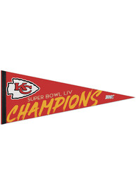 Kansas City Chiefs Super Bowl LIV Champions 12x30 Classic Pennant
