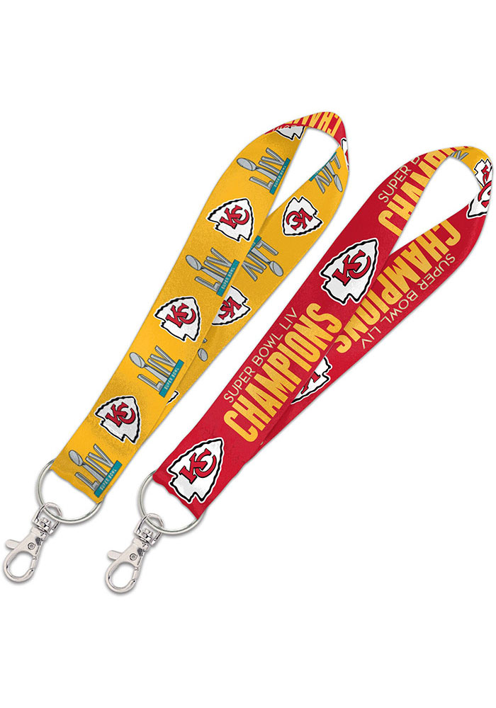 Kansas City Chiefs Super Bowl LIV Champions 1 Key Strap Lanyard - Image 1