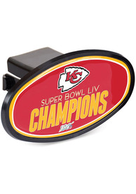 Kansas City Chiefs Super Bowl LIV Champions Oval Car Accessory Hitch Cover