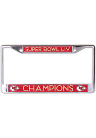 Kansas City Chiefs Super Bowl LIV Champions Mirrored Metal License Frame