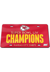 Kansas City Chiefs Super Bowl LIV Champions Mirrored Car Accessory License Plate
