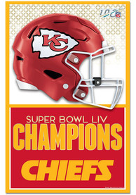 Kansas City Chiefs Super Bowl LIV Champions 11x17 Wood Sign