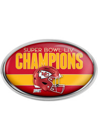 Kansas City Chiefs Super Bowl LIV Champions Car Emblem - Red