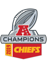 Kansas City Chiefs 2019 AFC Champs Trophy Pin