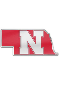 Nebraska Cornhuskers Auto Badge Car Emblem - Red