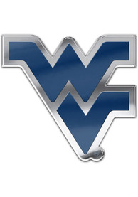 West Virginia Mountaineers Auto Badge Car Emblem - Blue