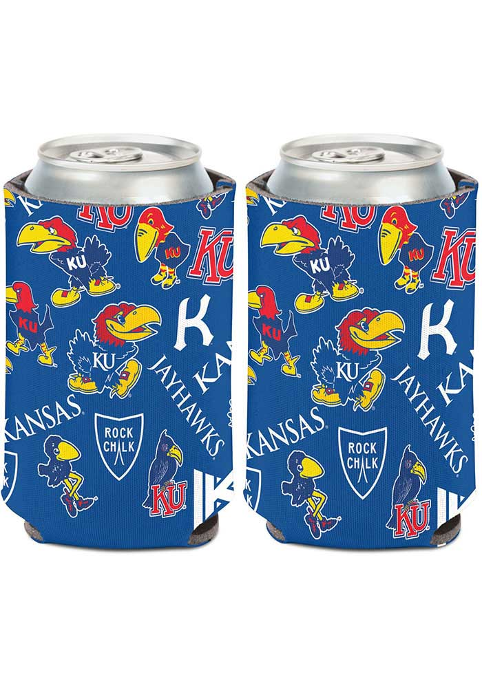 Kansas Jayhawks 12oz Can Coolie