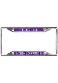 TCU Horned Frogs Metallic Inlaid License Frame