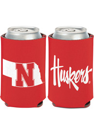 Nebraska Cornhuskers 12 oz Can Coolie