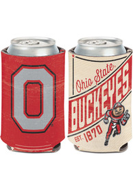Ohio State Buckeyes 12 oz Can Coolie