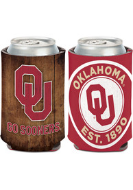 Oklahoma Sooners 12 oz Can Coolie