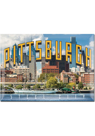 Pittsburgh Skyline 3x4 Metal Magnet