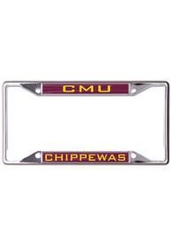 Central Michigan Chippewas Metallic Inlaid License Frame