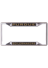 Purdue Boilermakers Metallic Inlaid License Frame
