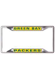 Green Bay Packers Metallic Inlaid License Frame