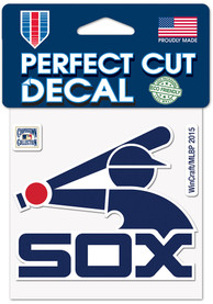 Chicago White Sox 4x4 Cooperstown Auto Decal - Blue