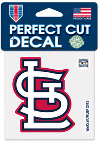 St Louis Cardinals 4x4 1964 Road Auto Decal - Red