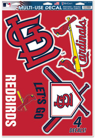 St Louis Cardinals 11x17 Multi Use Auto Decal - Red