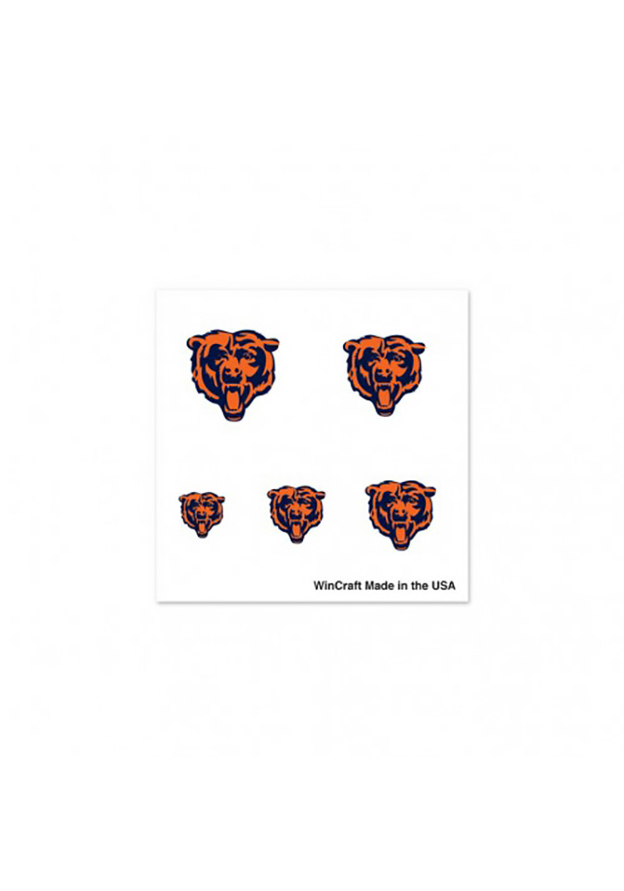 Chicago Bears Logo Fingernail Tattoo