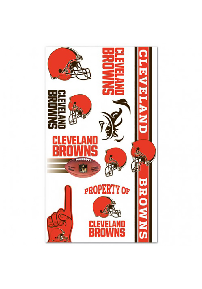 Cleveland Browns Variety Sheet Tattoo - Image 1