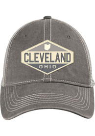 Cleveland Oil Burner Scout Meshback Adjustable Hat - Charcoal