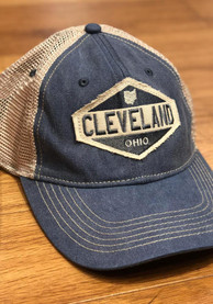 Cleveland Oil Burner Scout Meshback Adjustable Hat - Navy Blue
