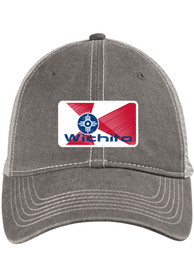 Wichita State Badge Scout Meshback Adjustable Hat - Charcoal