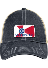 Wichita State Badge Scout Meshback Adjustable Hat - Navy Blue