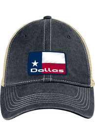 Dallas Ft Worth State Badge Scout Meshback Adjustable Hat - Navy Blue