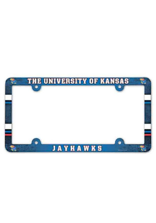 Kansas Jayhawks Full Color Plastic Car Accessory License Frame