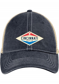 Cincinnati Scout Meshback Adjustable Hat - Navy Blue