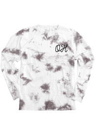 Ohio Women's Amethyst Tie Dye Wordmark Long Sleeve T Shirt