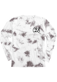 Cleveland Women's Amethyst Tie Dye Wordmark Long Sleeve T Shirt
