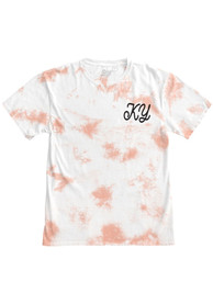 Kentucky Women's Rose Quartz Tie Dye Wordmark Short Sleeve T Shirt
