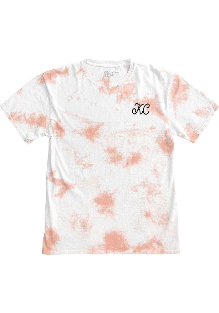 Kansas City Women's Rose Quartz Tie Dye Wordmark Short Sleeve T Shirt - Image 1