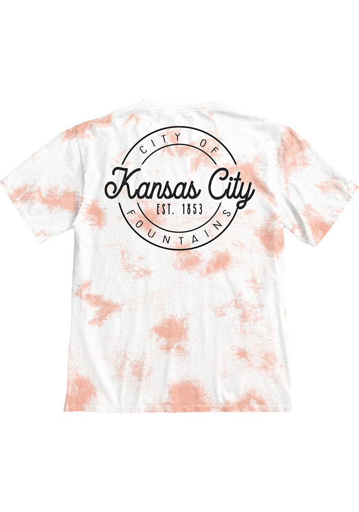 Kansas City Women's Rose Quartz Tie Dye Wordmark Short Sleeve T Shirt - Image 2